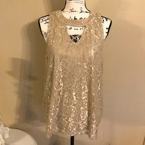 Maurices Shimmer Keyhole Tunic
